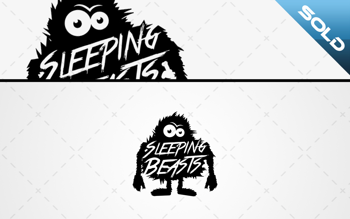 Sleeping Beast Monster Logo For Sale