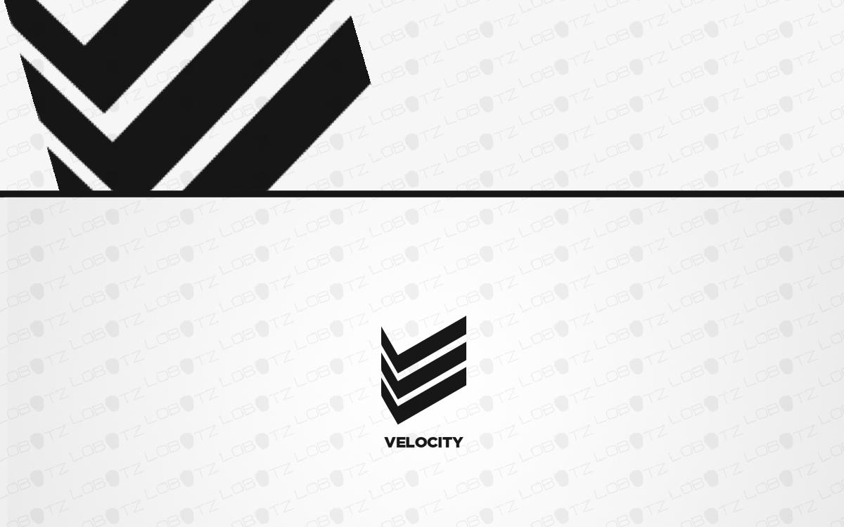 letter v logo for sale