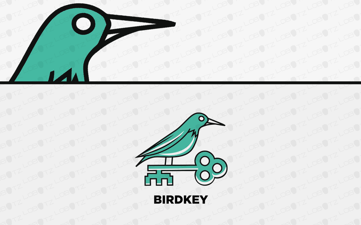 key bird logo for sale
