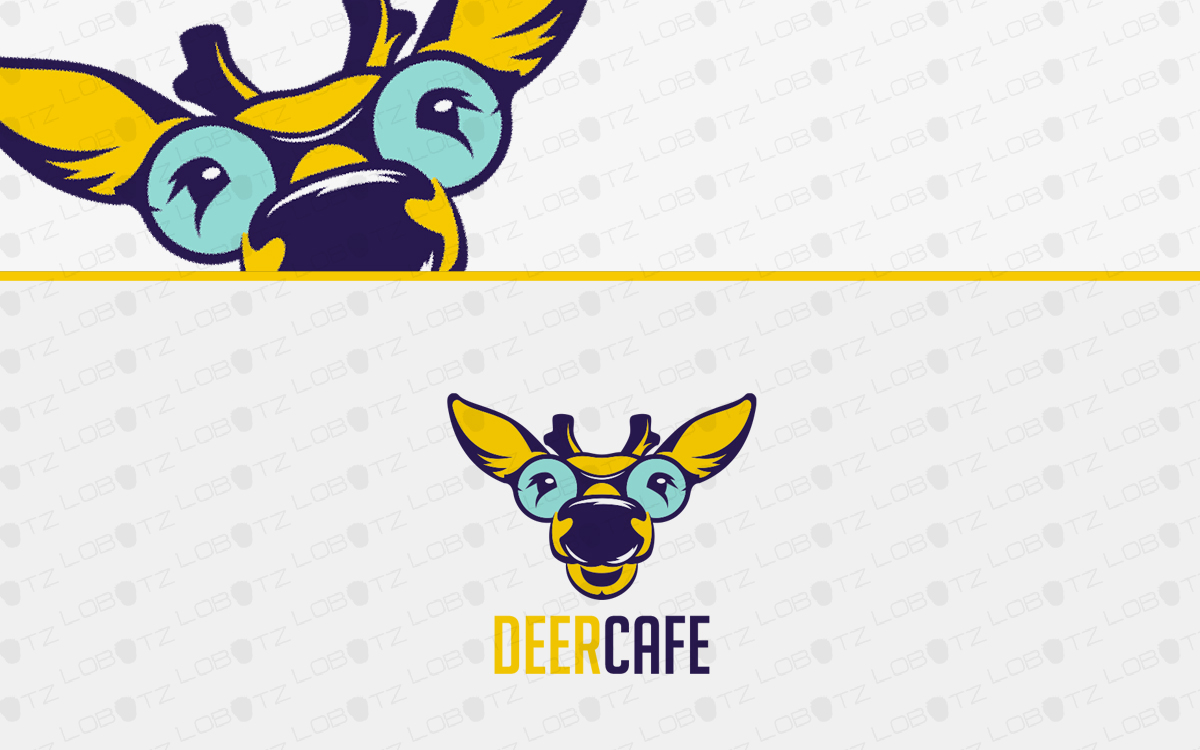deer head logo for sale