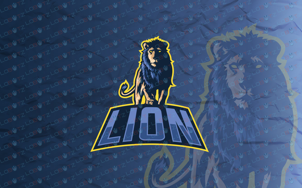 lion mascot logo for sale