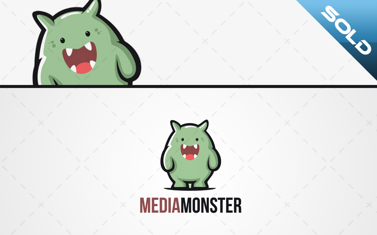cute monster logo for sale