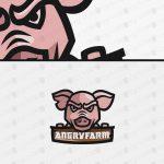 Readymade Pig Head Logo For Sale