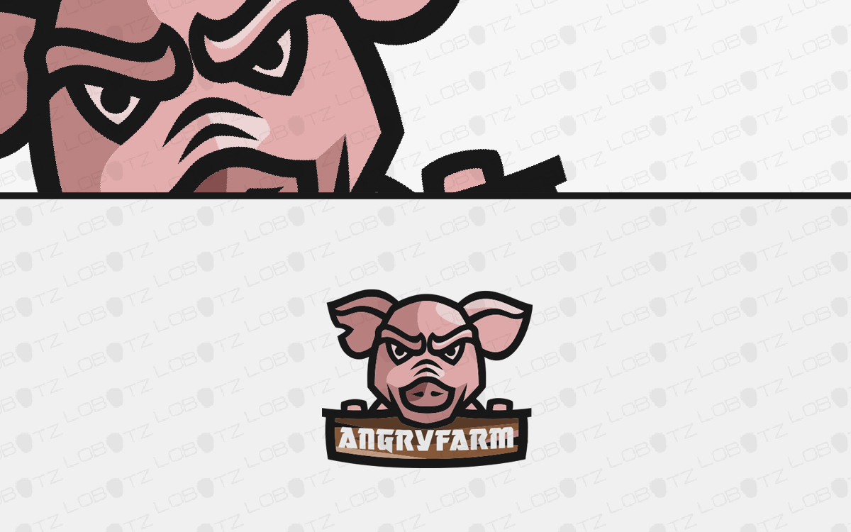 pig head logo for sale