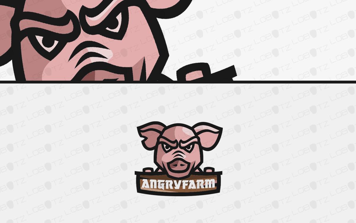 pig head logo for sale