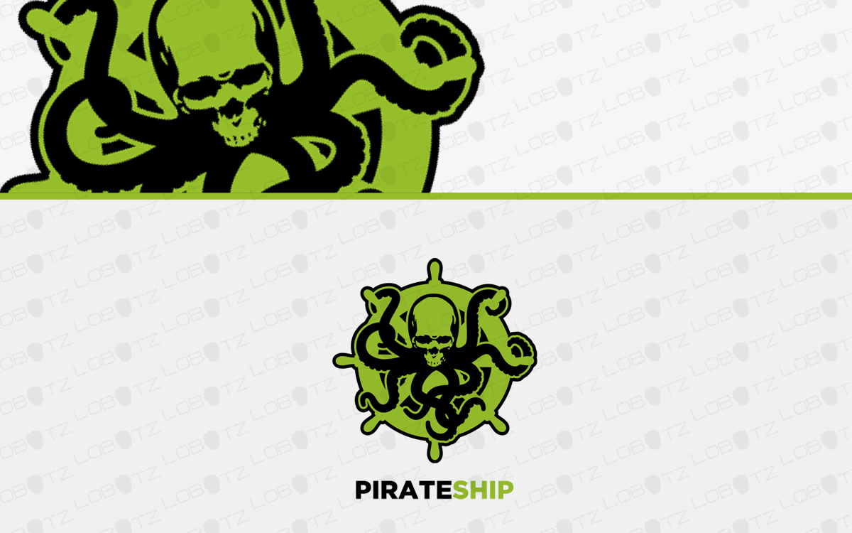 skull octopus logo for sale