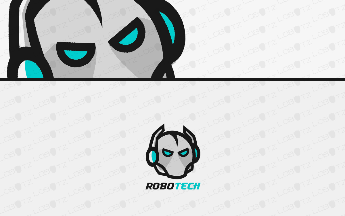 robot head logo for sale