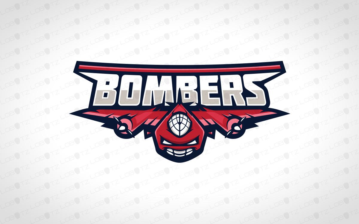 bomber fighter jet mascot logo fighter jet esports logo lobotz