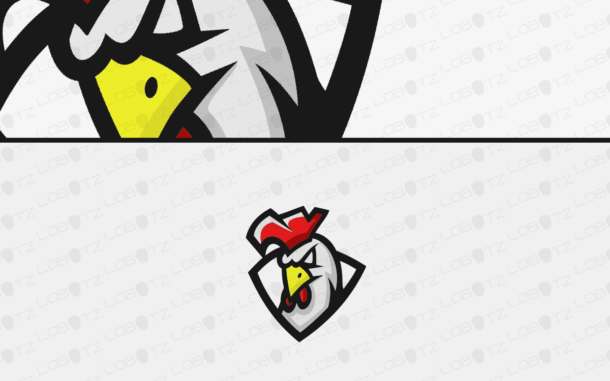 rooster mascot logo for sale