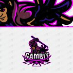 Gambit ESports Logo To Buy Online   Gambit Mascot Logo For Sale