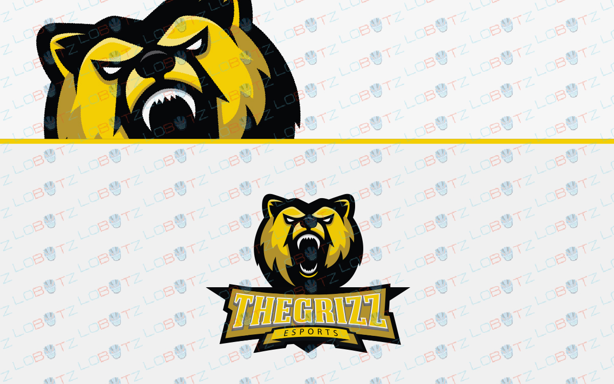 grizzly bear esports logo for sale
