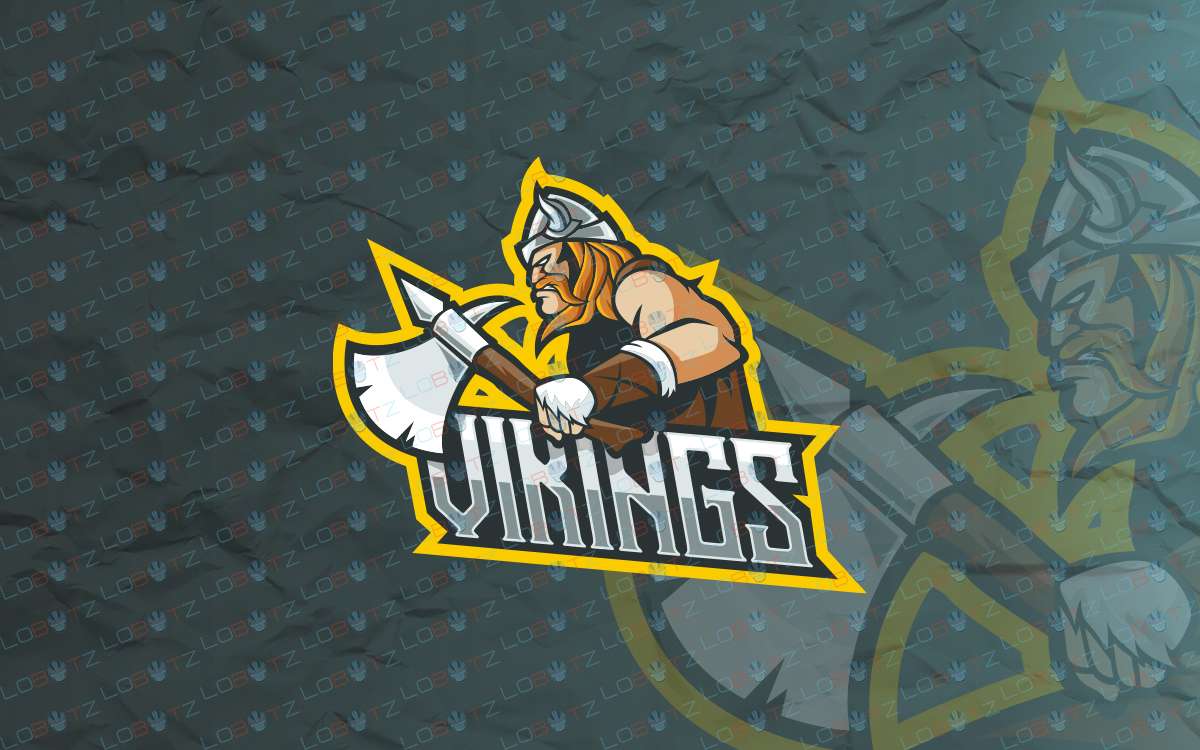 viking mascot logo for sale