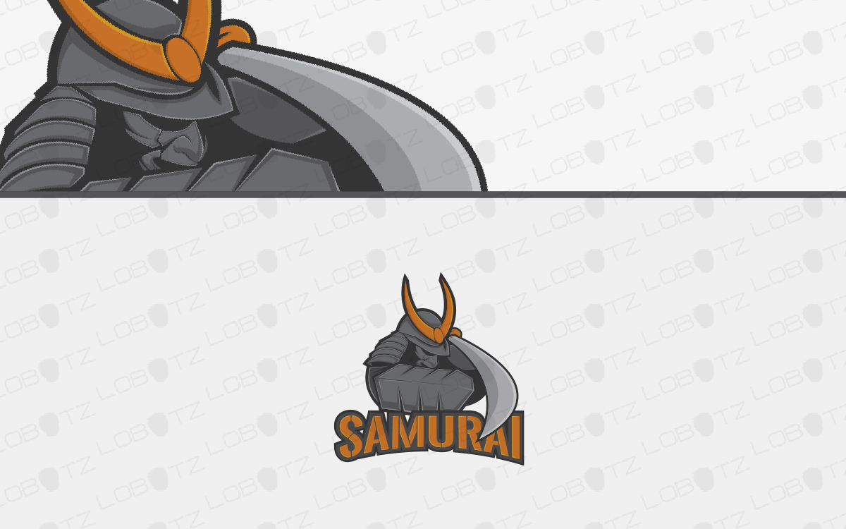 samurai mascot logo for sale