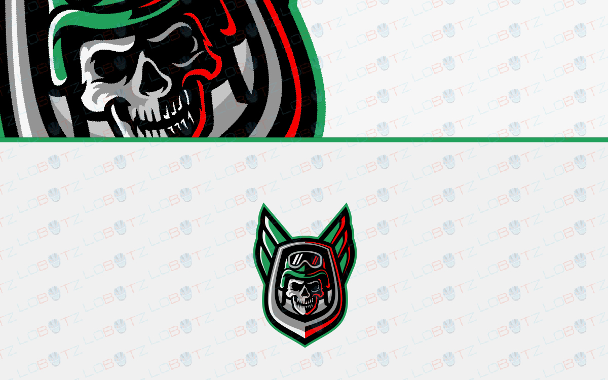 skull esports logo for sale