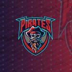 Skull Pirate eSports Logo To Buy Online | Skull Pirate Mascot Logo For Sale