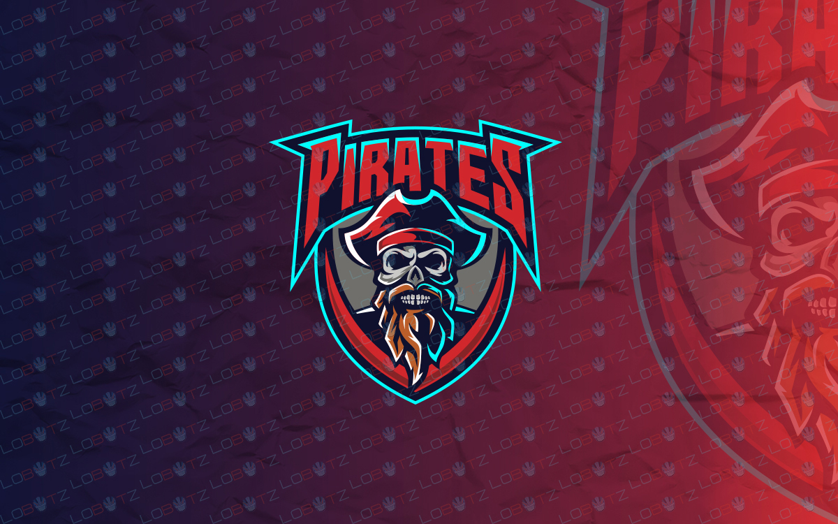 skull pirate esports logo for sale