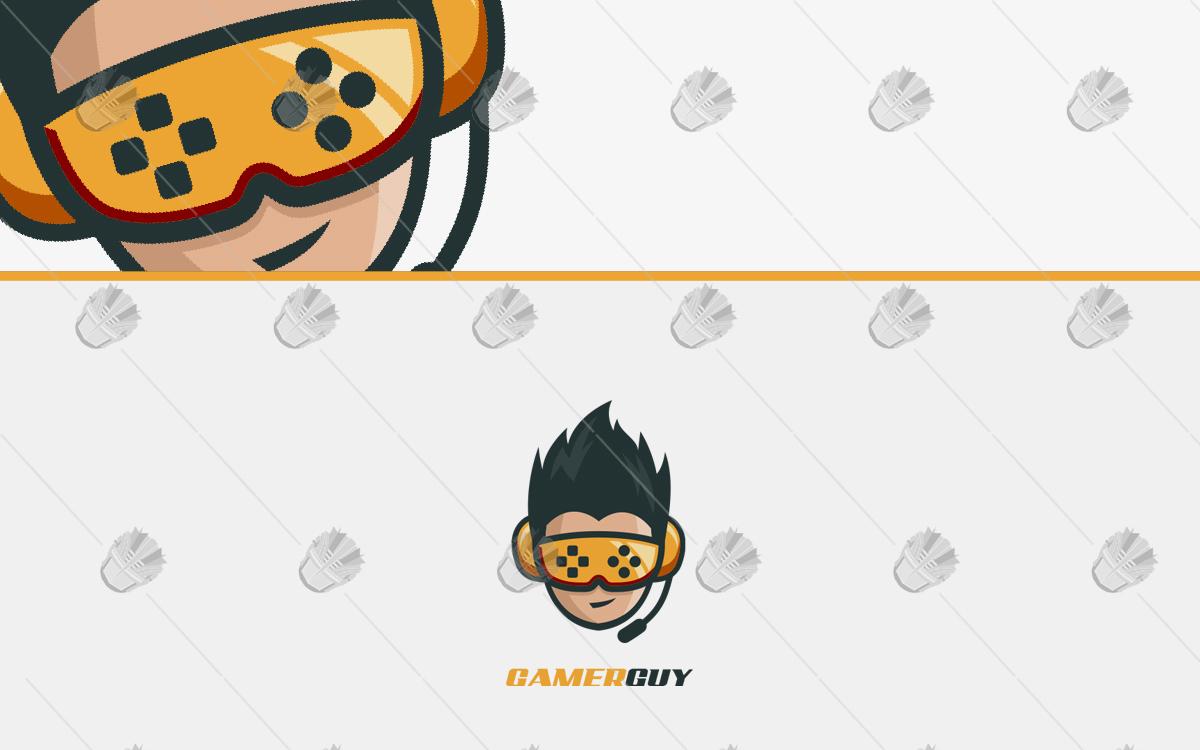 gamer guy gaming logo
