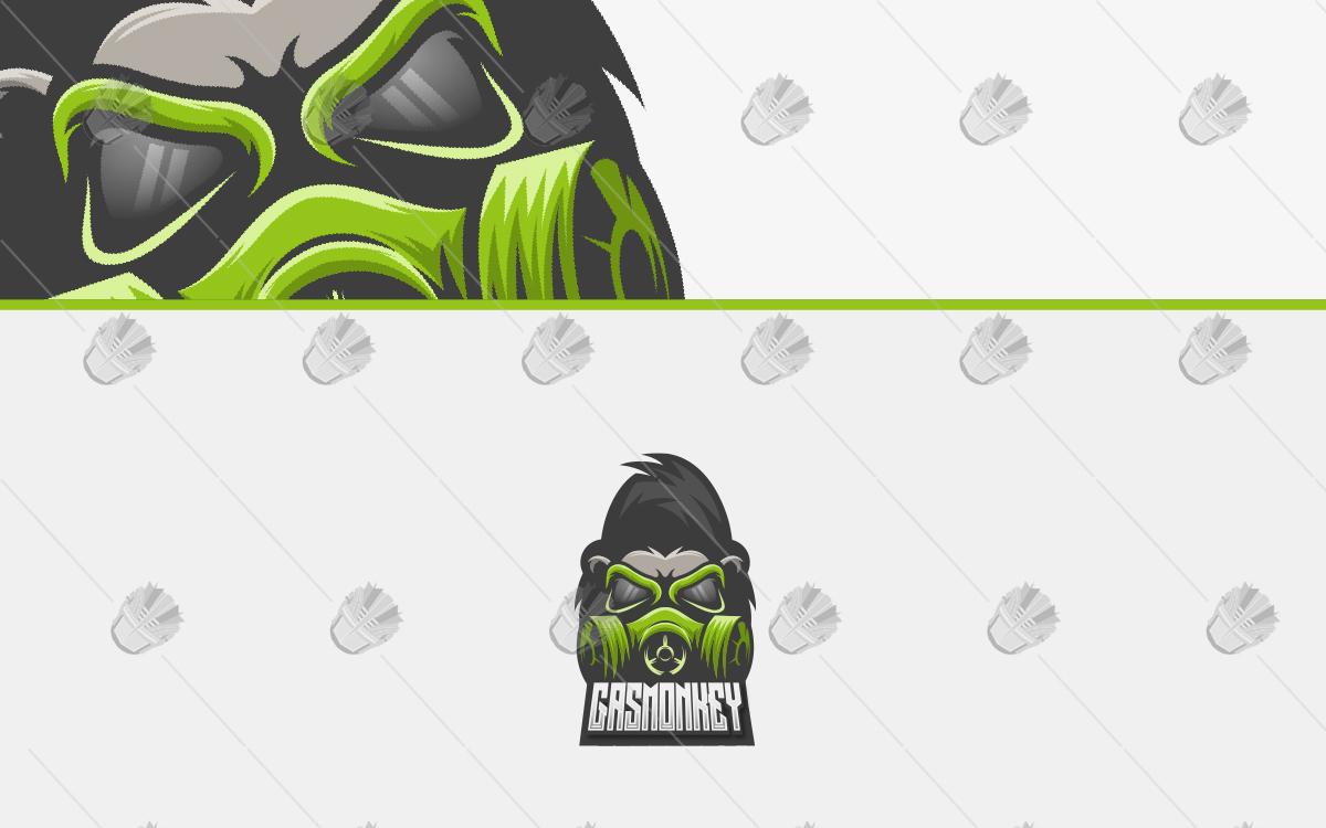 monkey mascot logo monkey esports logo gas mask
