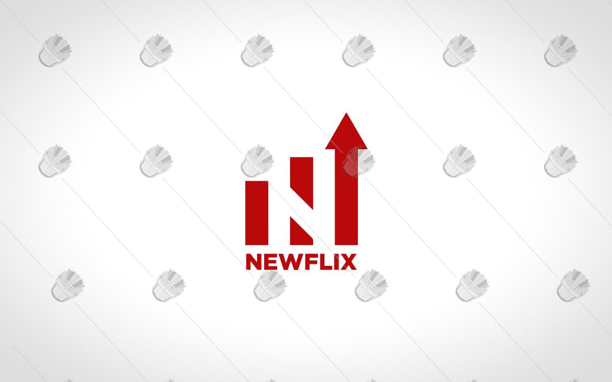 letter N logo design logo like netflix logo