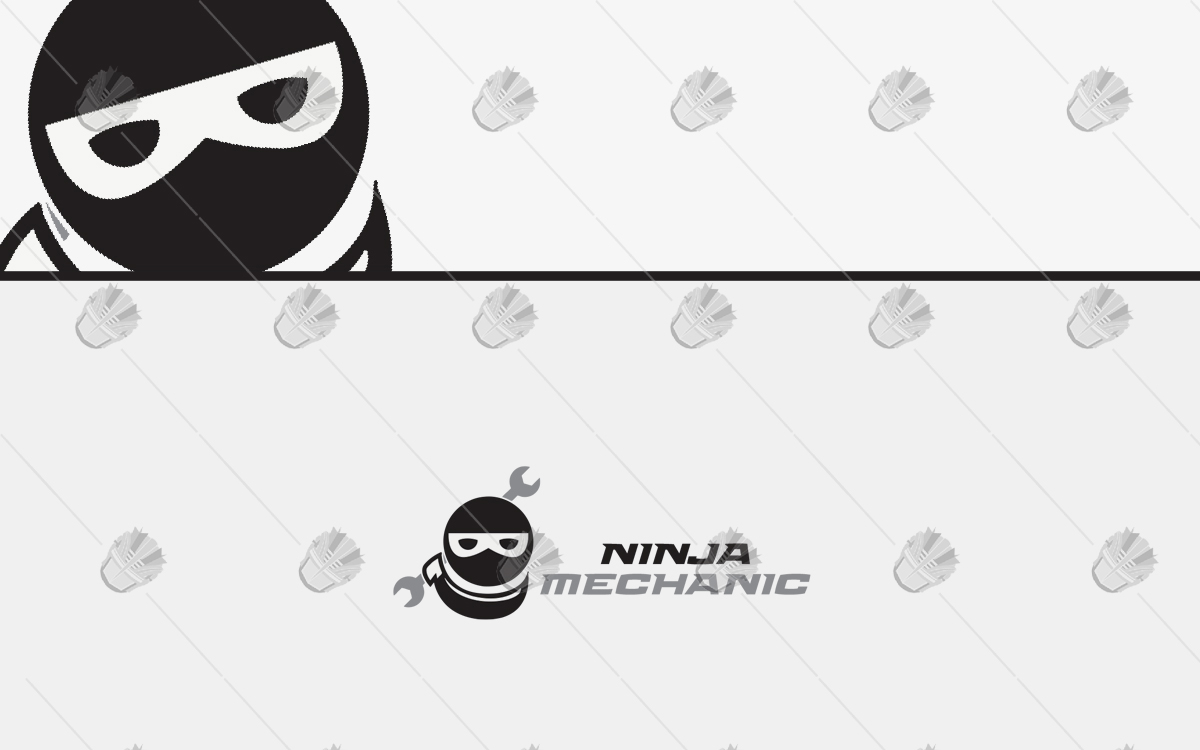 mechanic ninja logo for sale