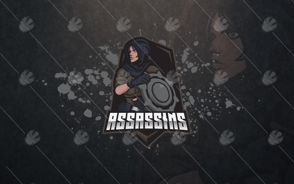 assassin esports logo assassin mascot logo
