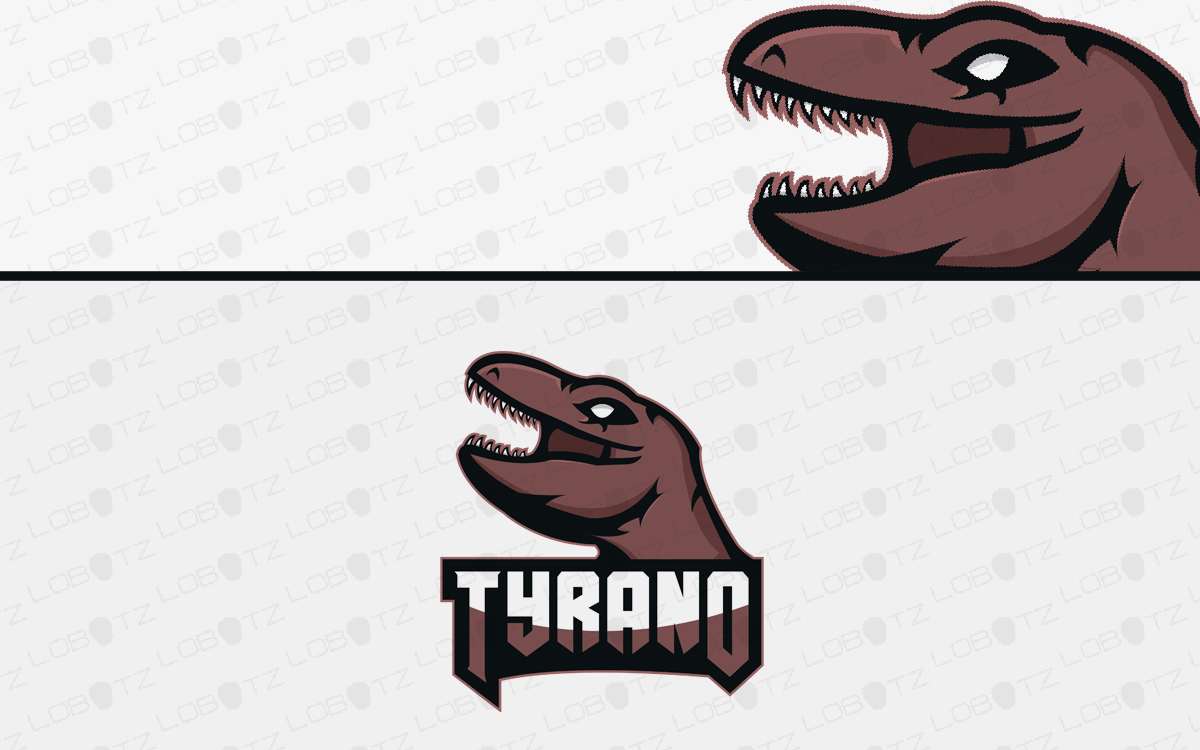 dinosaur mascot logo for sale