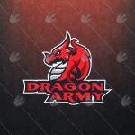 Amazing Gaming Dragon Logo For Sale