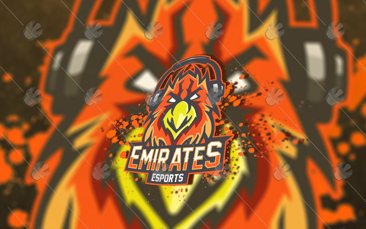falcon esports logo falcon mascot logo