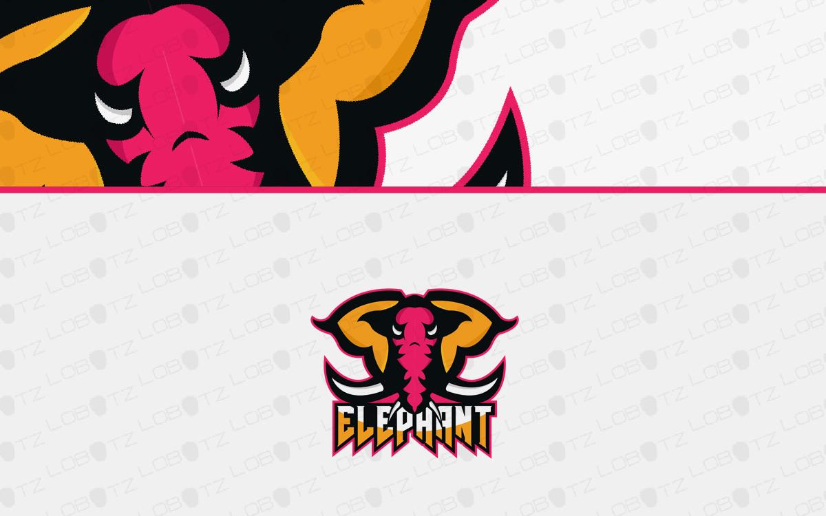 elephant mascot logo for sale