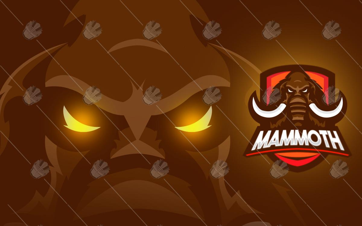 mammoth esports logo mammoth mascot logo