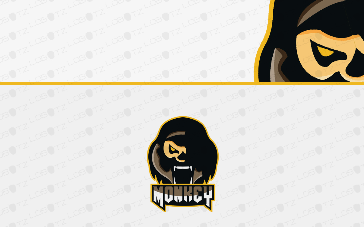 monkey mascot logo for sale
