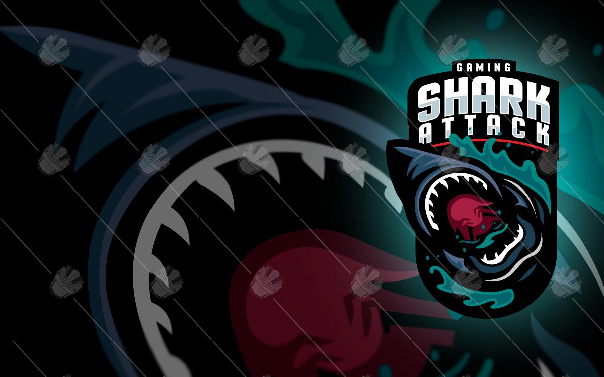 shark logo shark esports logo