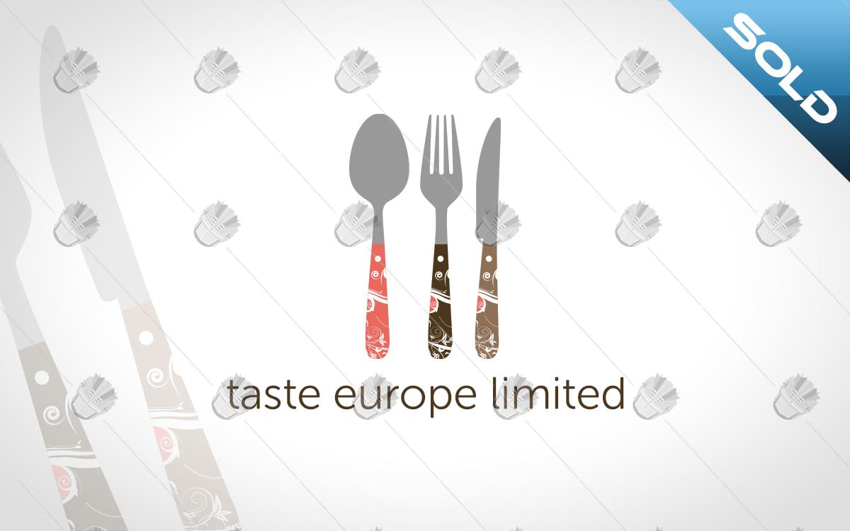 custom restaurant logo cutlery logo