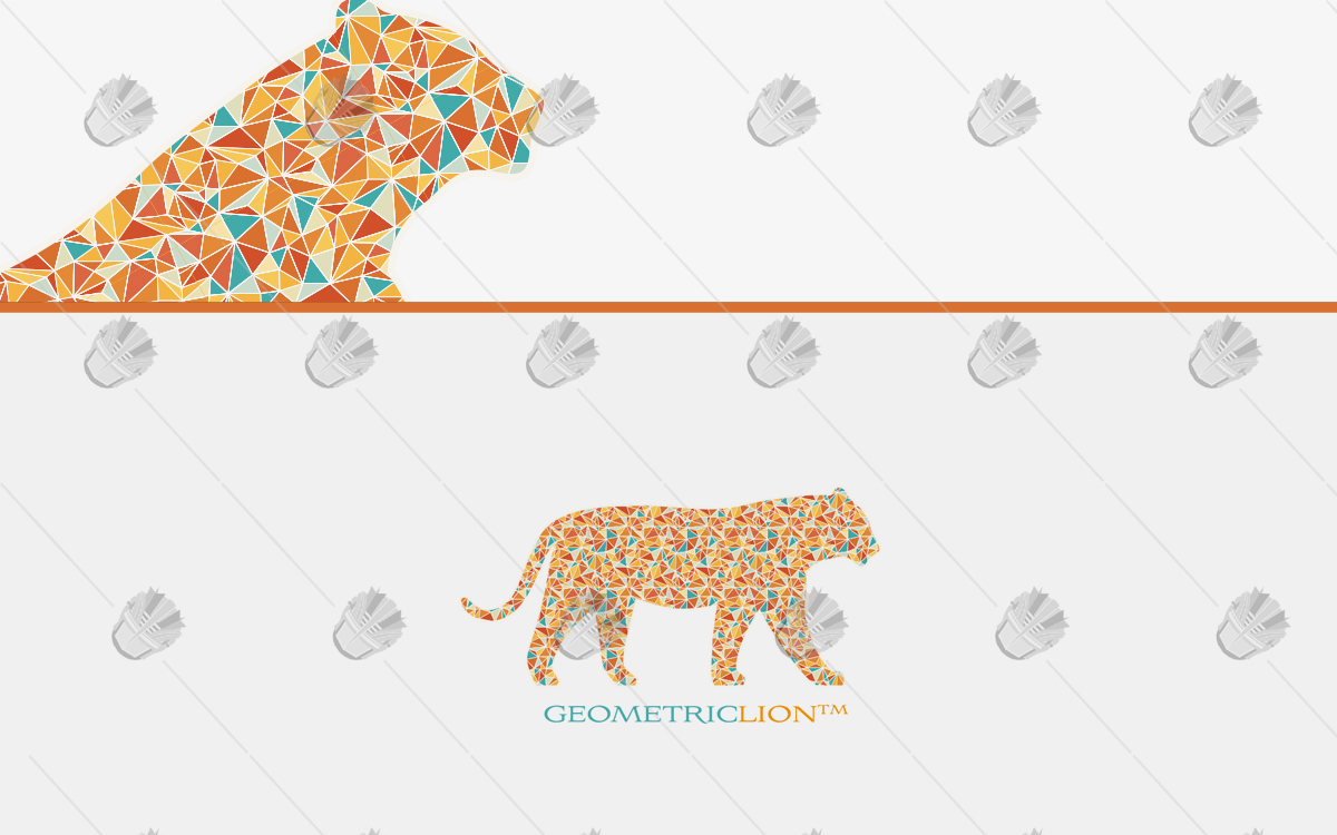 tiger geometric logo tiger polygon logo