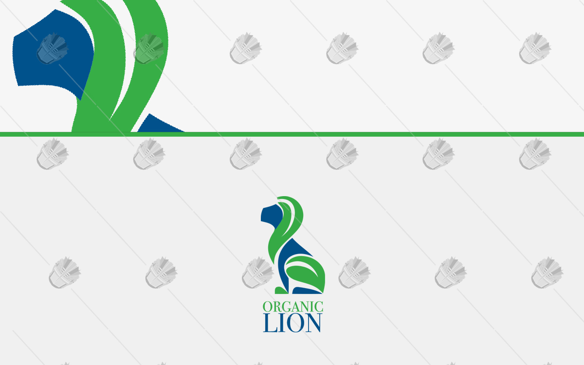 organic lion logo for sale