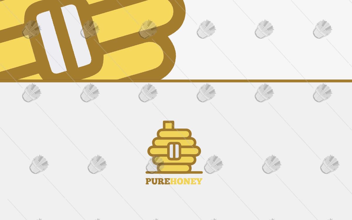 honey logo for sale bee hive logo