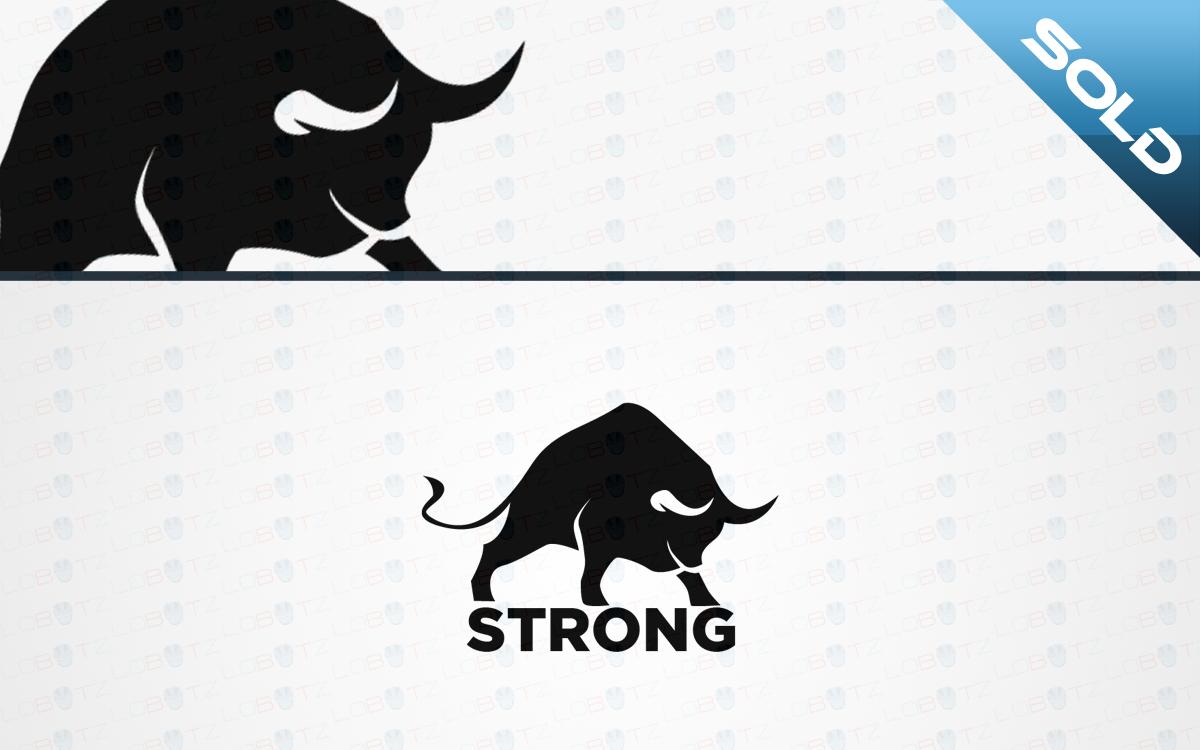 Strong Bull Logo For Sale