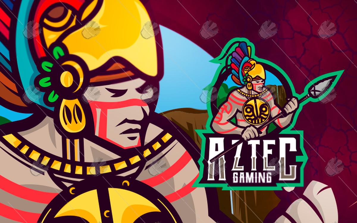 aztec esportslogo aztec mascotlogo