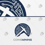 Amazing BitCoin Digital Coin Mining Logo For Sale