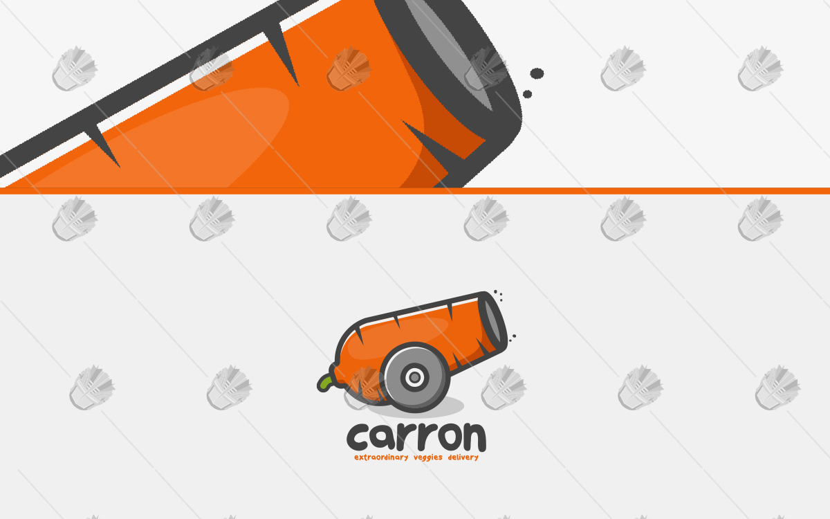 carrot logo creative carrot cannon logo