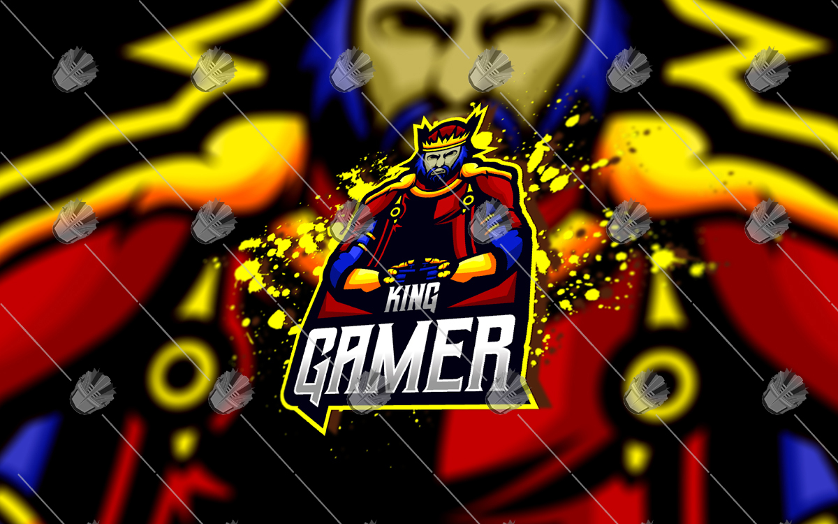 king gamer eSports logo king gamer mascot logo