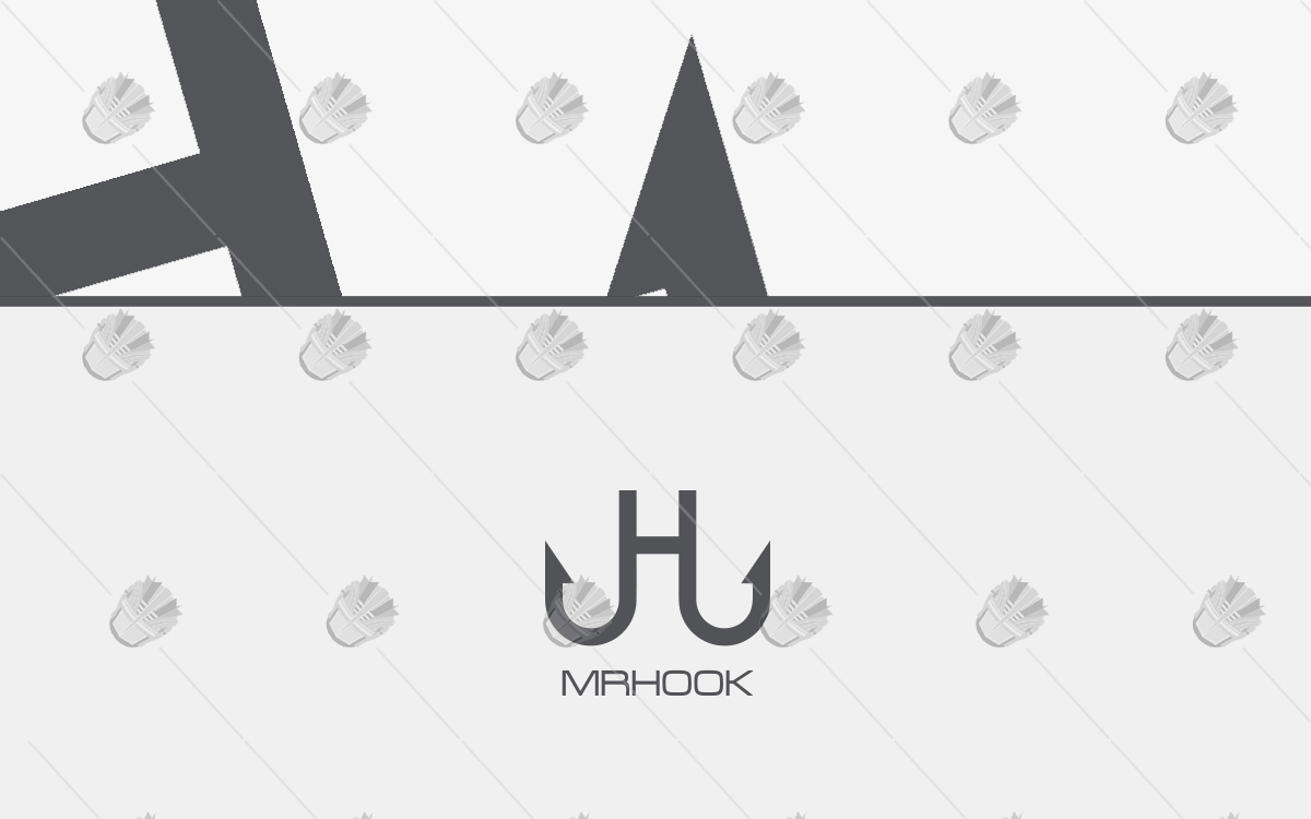 letter h logo hook logo logo for business
