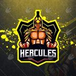 Hercules Mascot Logo Hercules eSports Logo For Sale