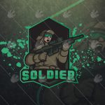 Awesome Soldier eSports Logo Soldier Mascot Logo
