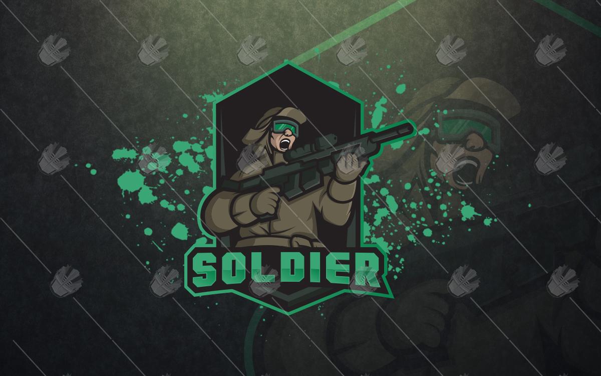soldier esports logo soldier mascot logo