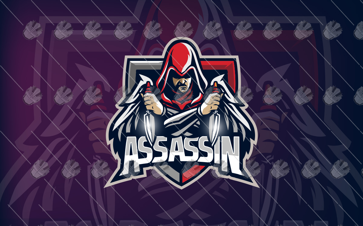 assassin mascot logo assassin esports logo