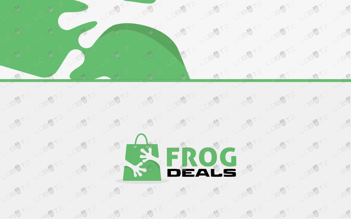 frog shopping logo for sale
