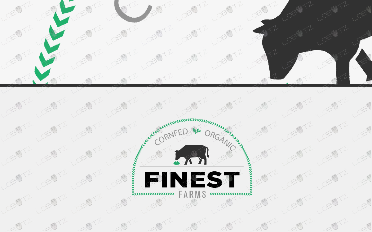 cow logo farm logo for sale