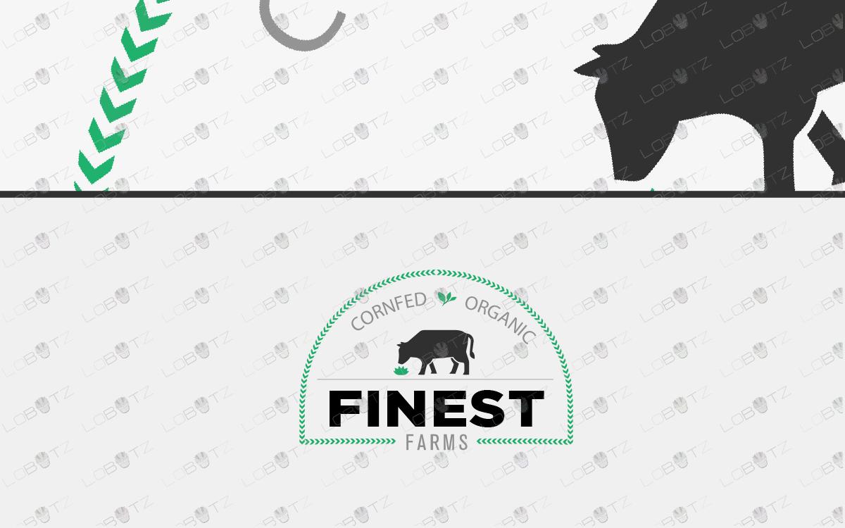 cow logo farm logo for sale