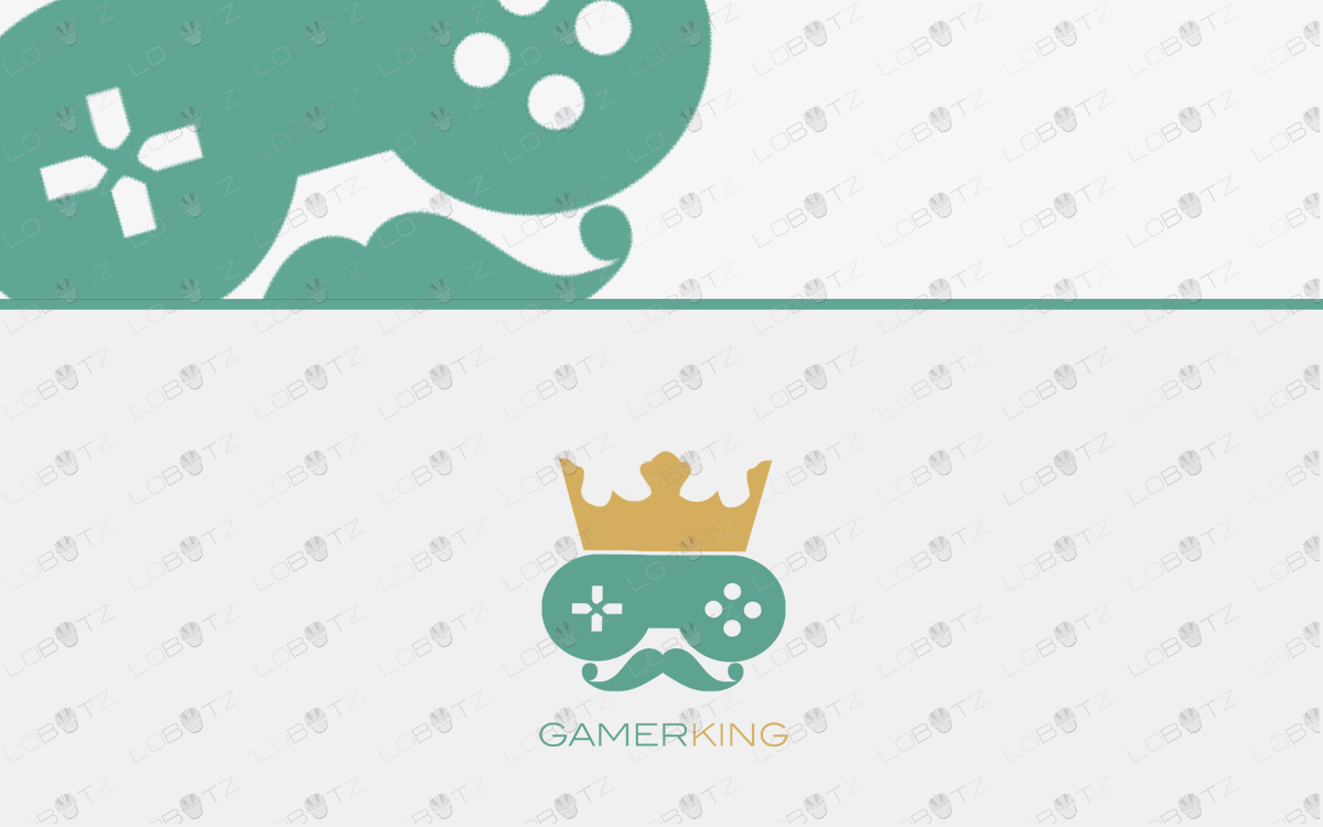 gamer king gaming logo for sale